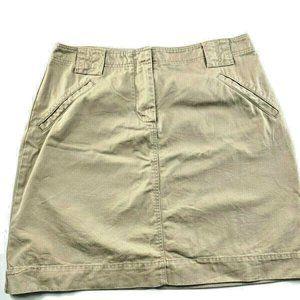 """J. Crew Tan Denim Front Zip Skirt 6 29x17"""" CK37"""